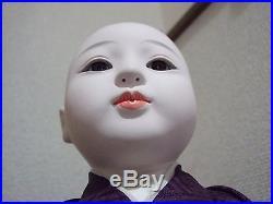 Japanese Vtg. ICHIMATSU Boy/Hina Doll/ Nihon Ningyo/Silk KImono/figure/Hakama