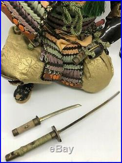 Japanese tradition antique Vintage samurai doll Figure Very rare F/S from japan
