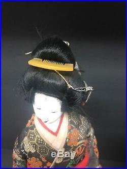Japanese (two) Geisha Doll Statue Porcelain Vintage