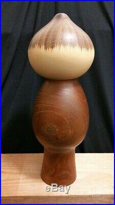 Kokeshi Japanese Doll Vintage Wooden Sosaku MUSHIN Signed Masao Watanabe Rare