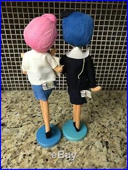 Lot Of 2 Vintage Holiday Fair 1964 Dolls Hedaya & Co Made In Japan