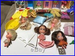 Lot of Vtg 1965 Mattel Liddle Kiddles Japan Dolls Kiddles Collectors Case Filled