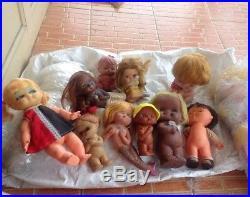 Lots vintage mermaid rubber vinyl dolls japan korea hong kong no mark big eye