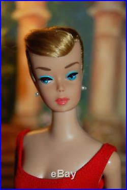 Lovely VINTAGE MATTEL BARBIE SWIRL PONYTAIL Ash Blond Red Helenca, Japan Heels