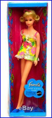 MATTEL Vintage Barbie Francie Twist Turn Blonde 1969 Original Box made in Japan