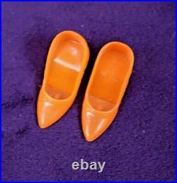 MOD Vintage Barbie TNT BOUNCY FLOUNCY OF Near Mint/Comp Tote Shoes FREE SHIP BIN