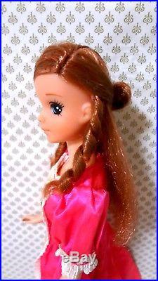 Mattel Quick Curl Tulip Tuli Francie, Japan vintage 70s Barbie doll, Licca chan