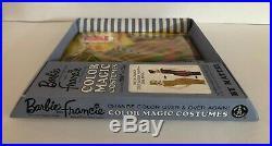 NRFB Vintage & RARE! Barbie & Francie COLOR MAGIC COSTUME Stripes Away 1965
