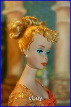Original Vintage Mattel 1960 Tm Barbie Doll #850 Blond Ponytail #4 Sold Nude