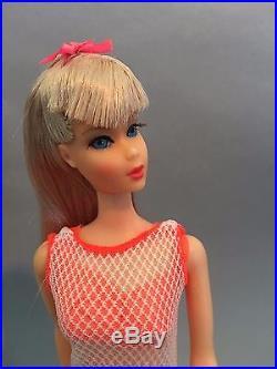 RARE ALL ORIGINAL Vintage TNT Silver Blonde Barbie Twist n Turn Japan 1966