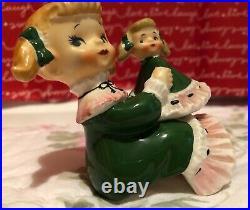 RARE VTG Norcrest Girl Look Alike Baby Doll Figurine Shelf Sitter Japan