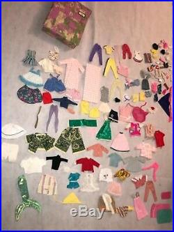 Rare Early Vintage Barbie Doll Case Clothes Lot as seen JAPAN 1962 1963 1958