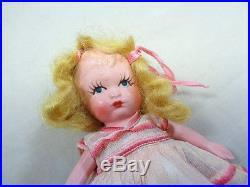 Rare Nancy Ann Doll Japan Chubby Belly in Orig Pink Dress Vintage NASB