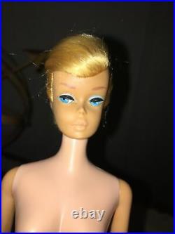 Rare Patented #8 Vintage Platinum Blonde Swirl Ponytail Barbie Doll No # 850