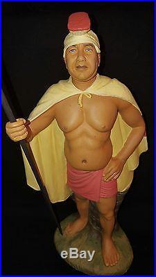 Rare Vintage 50s 1955 Hakata Urasaki Hawaiian Doll Warrior KING KAMEHAMEHA Japan