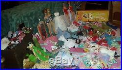 Rare Vintage Barbie Lot, 4 Dolls, #3 Ponytail, Clothes, Completers, Japan Spike& More