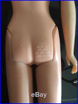 Rare Vintage Japan 1965 Mattel Francie Doll Incl Box & Stand Model #1140