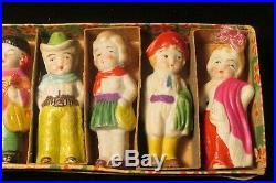 Rare Vintage Penny Bisque Around the World Doll Frozen Charlotte Japan Boxed Set