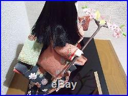 Rare Vtg. Furisode girl named SAKURA/Japanese doll/ichimatsu ningyo/kimono/Maiko