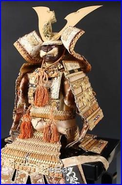 Real Vintage Japanese Samurai Figure Doll -Uehara Product-