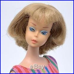 STUNNING Vintage Barbie American Girl Long Silver Ash Blonde Hair Japan