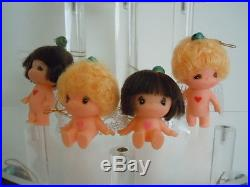 Super Rare Vintage Big Eyes Doll Set Of 12 Japan Kiddle Alike Small Angel Dolls