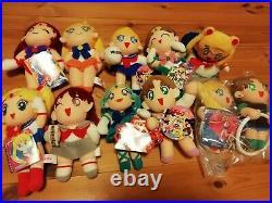 Sailor Moon Plush Doll Lot Of 11 Set Vintage Rare Japan Limited Collection 16