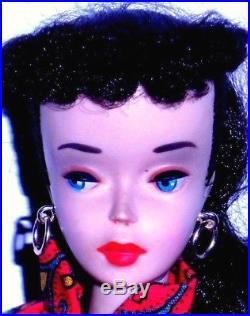 Stunning Vintage 1959 Brunette # 3 Ponytail Barbie TM Model 850 Japan Mint