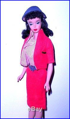 Stunning Vintage 1960 Brunette Ponytail Barbie Teenage Model 850 Japan Mint