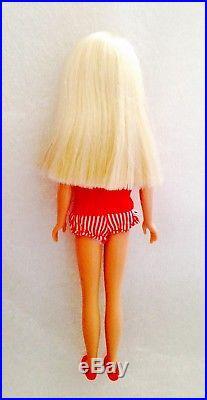 Stunning Vintage 1964 Lemon Platinum Blonde Straight Leg Skipper Barbie Japan