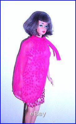 Stunning Vintage 1966 Silver Brunette Long Hair American Girl Barbie Japan Mint