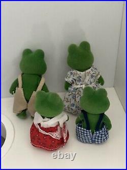Sylvanian families Vintage-1980s Rare Mose BULLRUSH Frog Family EC