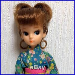 Takara Licca Doll Rika chan 1st generation rare up hair kimono vintage Japan
