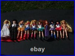 Ten Vintage 6 Sailor Moon Irwin Dolls Lot 1995 HTF