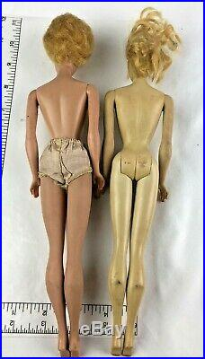 Two Vintage Barbie 1958 MCMLVIII Formals Ponytail Bubble cut Blonde's Japan
