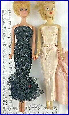 Two Vintage Barbie Formals Ponytail Bubble cut Blonde's Japan AS IS