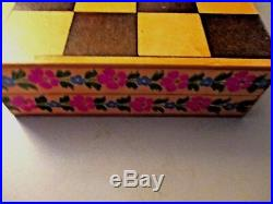Unique Vintage Kokeshi Checkers&Checker Board Early70's purchased in Japan Mint