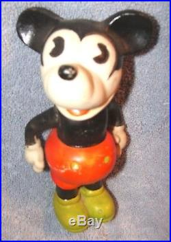 VINTAGE 1930s WALT E. DISNEY MICKEY MOUSE (JAPAN 6 PIE-EYED) BISQUE TOY DOLL