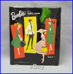 VINTAGE 1958 BRUNETTE PONYTAIL BARBIE NO. 4 DOLL MATTEL JAPAN Swimsuit Shoes Base