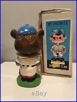 VINTAGE 1960s chicago cubs mascot bobblehead nodder doll green base japan