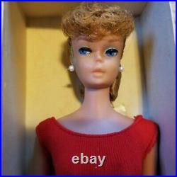 VINTAGE ASH BLONDE PONYTAIL BARBIE Doll withBOX, ORIGINAL PERFECT HAIR&FACEPAINT