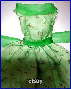 VINTAGE BARBIE Modern Art #1625 Green Chiffon Dress Japan XLNT
