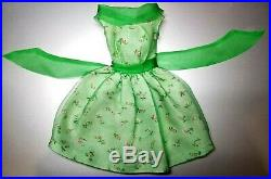 VINTAGE BARBIE Modern Art DRESS #1625 Green Chiffon Dress Japan XLNT