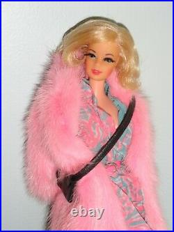 VINTAGE BARBIE TNT STACEY DOLL WithRUFFLES & SWIRLS & PINK MINK COAT & ACCES