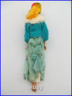 VINTAGE HIGH COLOR MAGIC BARBIE Blonde Yellow First Issue 1966 Mattel Japan