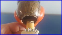 (VTG) 1960s BALTIMORE ORIOLES BIRD BOBBLE HEAD NODDER DOLL JAPAN WHITE BASE RARE