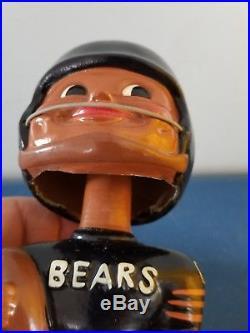 VTG 1960s Chicago Bears football black face nodder bobbing head doll Japan