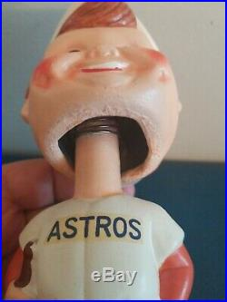 VTG 1960s HOUSTON ASTROS BOBBLE HEAD NODDER DOLL WHITE BASE JAPAN