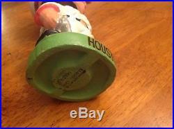 VTG 1960s HOUSTON COLTS 45s BOBBLE HEAD NODDER DOLL GREEN BASE JAPAN