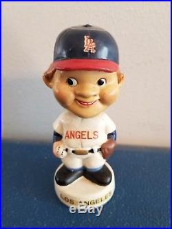 (VTG) 1960s Los Angeles Angel's Beatle head mini bobble head nodder doll Japan